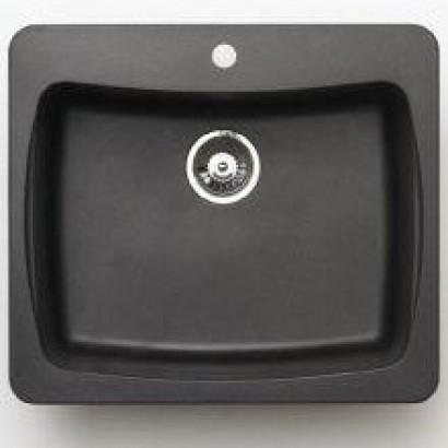 Pegasus AL10MB Granite Single Bowl Kitchen Sink in Metallic Black