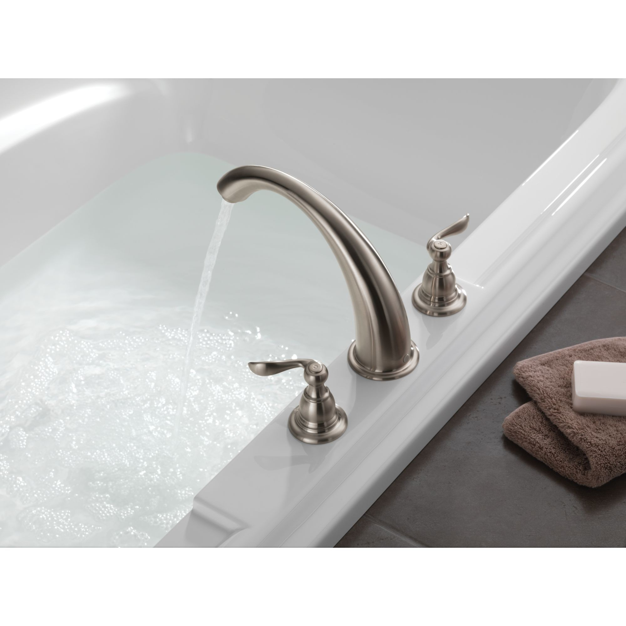 delta b3596lf ss foundations windemere two handle widespread bathroom