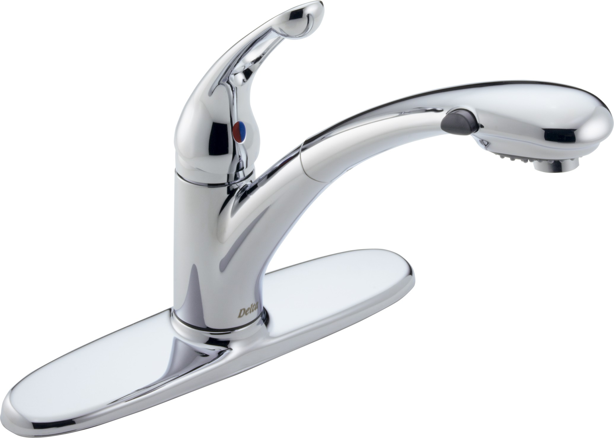 Delta Kitchen Faucets : Delta 472-DST Signature Single Handle Kitchen Faucet with Pull-Out ...