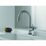 Delta 9159T-AR-DST Trinsic Single Handle Pull-Down Kitchen Faucet Featuring Touch2O and Diamond Seal Technology in Arctic Stainless