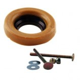 Westbrass D6033-40 Wax Ring and Bolts for Toilet Bowl