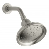 KOHLER K-14519-BN Bancroft 2.0 gpm single function showerhead with Katalyst spray in Vibrant Brushed Nickel