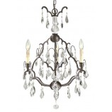 World Imports 2615-89 (WI261589) Timeless Elegance 3 Light Crystals Chandelier In Bronze