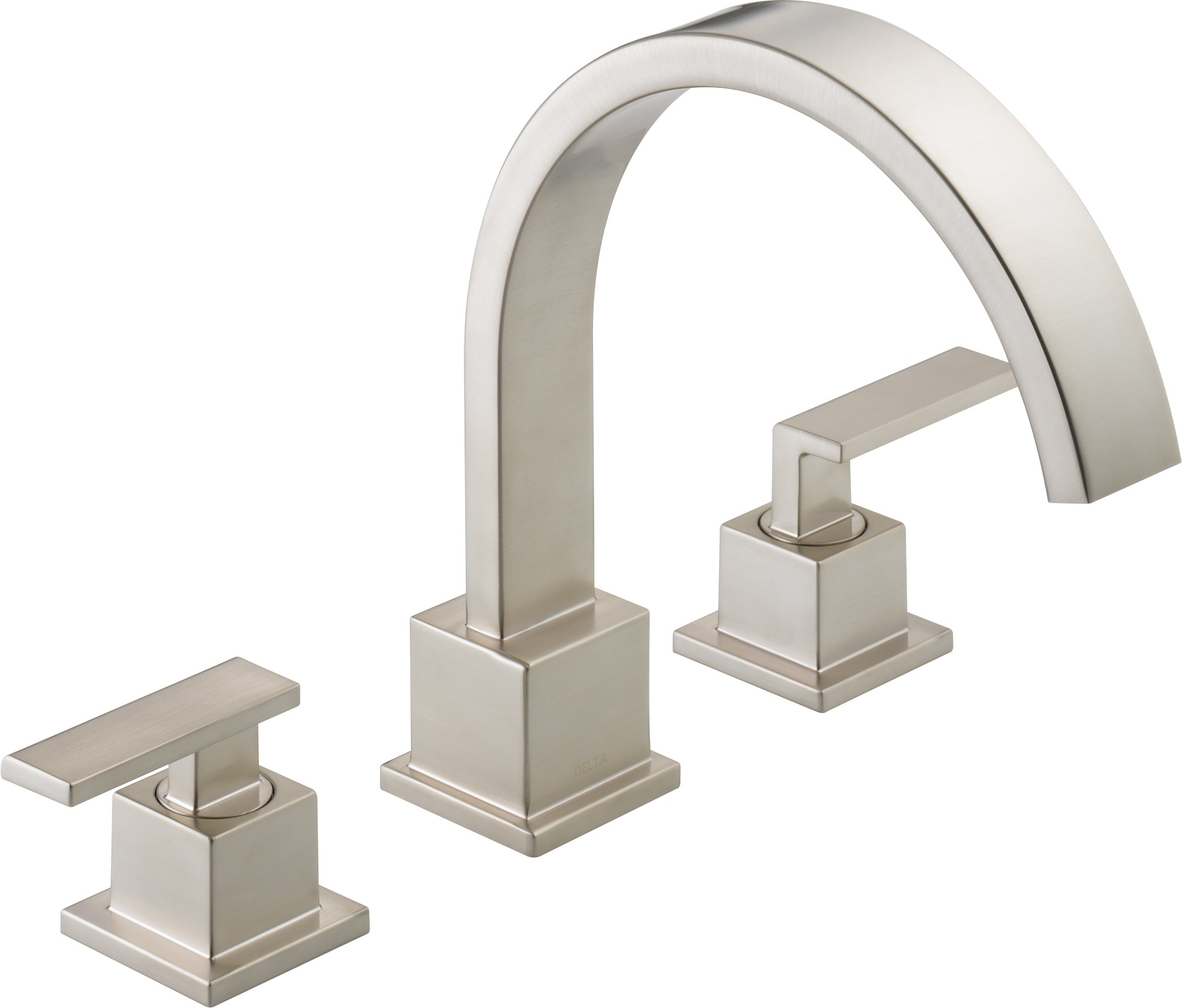 delta faucets vero series two handle roman tub with spray apps