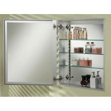 "Afina SD1519RBRD-BV-S Broadway Single Door Frameless Medicine Cabinet with a Beveled Edge (15""x19"")"