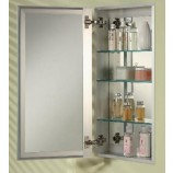 "Afina SD1525RBRD-BV-S Broadway Single Door Frameless Medicine Cabinet with a Beveled Edge (15"" x25')"