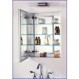 "Afina SD1530RBRD-BV-S Broadway Single Door Frameless Medicine Cabinet with a Beveled Edge (15""x 30"")"