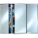 "Afina TD4836RBRD-BV-T-D Triple Door Broadway Frameless Medicine Cabinet with a Beveled Edge (48"" x 36"")"