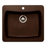 AstraCast AL10RQUSSK Alpha Single Bowl Granite ROK Composite Kitchen Sink in Metallic Chocolate