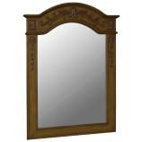 Belle Foret 80032 Single Carved Portrait Mirror in Medium Oak