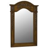 Belle Foret 80036 Single Mirror in Medium Oak