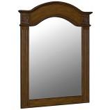 Belle Foret 80041 Single Carved Portrait Mirror in Vintage Oak