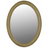 Belle Foret 80043 Single Oval Mirror in Antique Parchment