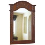 Belle Foret 80047 Single Carved Portrait Mirror in Dark Cherry