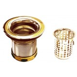Belle Foret NBBS2 PB Junior Basket Strainer in Polished Brass