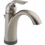 Delta 15938T-SS-DST Lahara Single Handle Bathroom Faucet with Touch2O and Diamond Seal Technology in Stainless