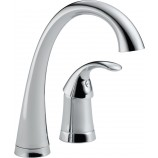 Delta 1980-DST Pilar Single Handle Bar/Prep Faucet with Diamond Seal Technology in Chrome