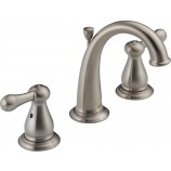 Delta 3575LF-SS Leland Two Handle Widespread Bathroom Faucet in Stainless