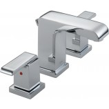 Delta 3586LF-MPU Arzo Two Handle Widespread Bathroom Faucet in Chrome