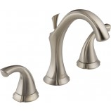 Delta 3592LF-SS Addison Two Handle Widespread Bathroom Faucet in Stainless