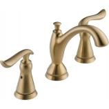 Delta 3594LF-CZMPU Linden Two Handle Widespread Bathroom Faucet with Metal Pop-Up Drain in Champagne Bronze