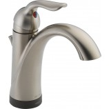 Delta 538T-SS-DST Lahara Single Handle Bathroom Faucet with Touch2O and Diamond Seal Technology in Stainless