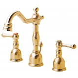 Danze D303057PBV Opulence Two Handle Mini-Widespread Bathroom Sink Faucet with Metal Popup Drain in Polished Brass