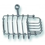 Elizabethan Classics TSD5CP Riser Mount Soap Basket in Chrome