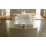 Jacuzzi-ALL7242 WCR 4CH W Allusion Acrylic 72-Inch x 42-Inch x 26-Inch Luxury Whirlpool Bath with 10 jets, Chromatherapy, Heater, Center Drain and Right Pump in White
