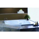 Jacuzzi-CAP5555 BCX XXX W Capella Acrylic 55-Inch x 55-Inch x 20-1/4-Inch Corner Comfort Soaking Bath with Center Drain in White