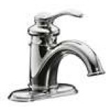 KOHLER K-12181-CP Fairfax Single Handle Bathroom Sink Faucet with Lever Handle and Pop-Up Drain in Polished Chrome