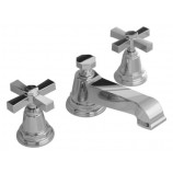 KOHLER K-13132-3A-CP Pinstripe Pure Widespread Lavatory Faucet with Cross Handles in Polished Chrome