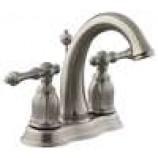 KOHLER K-13490-4-BN Kelston Centerset Lavatory Faucet in Brushed Nickel
