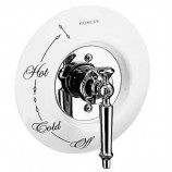 KOHLER K-146-0 Antique Ceramic Dial Plate In White