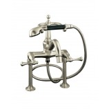 KOHLER K-16210-4A-BN Revival Bath Faucet with Handshower, Diverter Spout and Traditional Lever Handles in Brushed Nickel