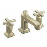 KOHLER K-16232-3-BV Margaux Widespread Lavatory Faucet with Cross Handles in Brushed Bronze