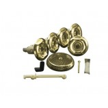 KOHLER K-9695-PB Flexjet Whirlpool Trim Kit with Five Jets in Polished Brass