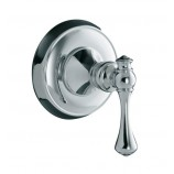 KOHLER K-T16177-4A-CP Revival Volume Control Valve Trim with Traditional Lever Handle in Polished Chrome