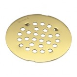 "Moen 101663P 4 1/4"" Shower Drain Cover in Polished Brass"