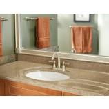 Moen 6121BN Kingsley Two Handle Centerset Bathroom Sink Faucet with Valve in Brushed Nickel