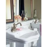 Moen 6301BN Vestige Two Handle Centerset Bathroom Sink Faucet with Valve in Brushed Nickel