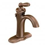 Moen 6600ORB Brantford Single Handle Centerset Bathroom Sink Faucet with Valve in Oil Rubbed Bronze