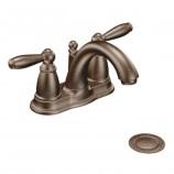 Moen 6610ORB Brantford Two Handle Centerset Bathroom Sink Faucet with Valve in Oil Rubbed Bronze
