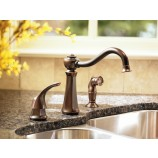 Moen 7065 Vestige Single Handle Kitchen Faucet with Matching Sidespray in Chrome