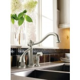 Moen 7065CSL Vestige Single Handle Kitchen Faucet with Matching Sidespray in Classic Stainless