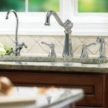 Moen 7068 Vestige Two Handle Kitchen Faucet with Matching Sidespray in Chrome
