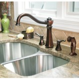 Moen 7068ORB Vestige Two Handle Kitchen Faucet with Matching Sidespray in Oil Rubbed Bronze