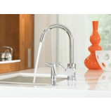 Moen 7106 Level Single Handle High Arc Kitchen Faucet with Matching Sidespray in Chrome