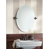 Moen DN0892ORB Gilcrest Oval Tilting Bath Mirror with Decorative Hardware in Oil Rubbed Bronze