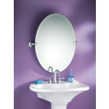 Moen DN2692CH Glenshire Oval Tilting Bath Mirror with Decorative Hardware in Chrome